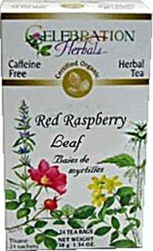 Celebration Herbals  Organic Red Raspberry Leaf Tea Caffeine Free Perspective: front