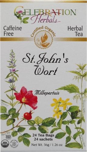 Celebration Herbals  Organic St John's Wort Tea Caffeine Free Perspective: front