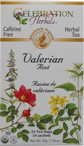 Celebration Herbals  Organic Valerian Root Tea Caffeine Free Perspective: front