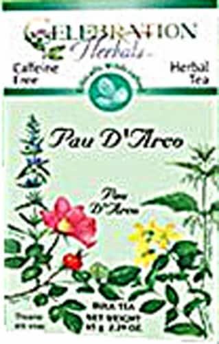 Celebration Herbals  Pau D'Arco Tea Caffeine Free Perspective: front