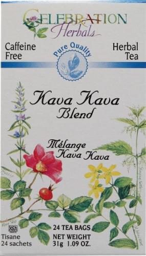 Celebration Herbals  Herbal Tea Caffeine Free Kava Kava Blend Perspective: front
