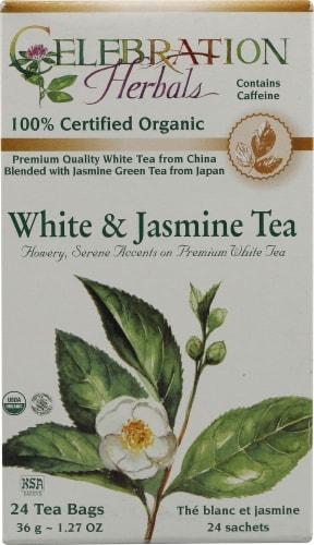Celebration Herbals Organic White & Jasmine Tea Bags Perspective: front