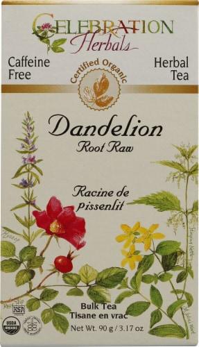 Celebration Herbals  Organic Dandelion Root Raw Bulk Tea Caffeine Free Perspective: front