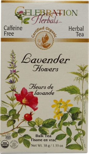 Celebration Herbals  Organic Lavender Flowers Bulk Tea Caffeine Free Perspective: front