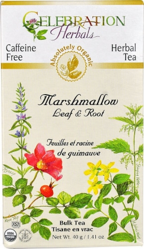 Celebration Herbals  Organic Marshmallow Leaf and Root Tea Caffeine Free Perspective: front