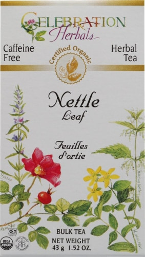 Celebration Herbals  Organic Herbal Nettle Leaf Bulk Tea Caffeine Free Perspective: front