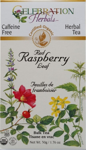 Celebration Herbals  Organic Red Raspberry Leaf Caffeine Free Perspective: front