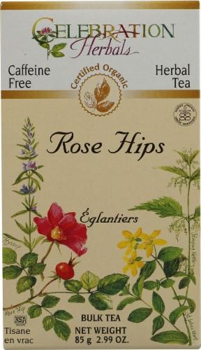 Celebration Herbals  Organic Rose Hips Bulk Tea Caffeine Free Perspective: front