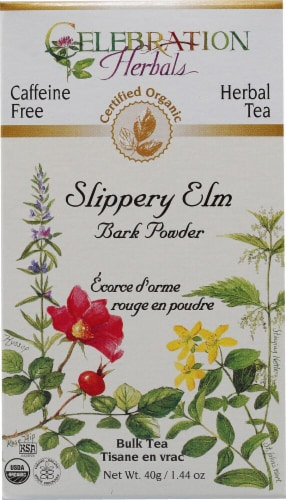 Celebration Herbals  Slippery Elm Bark Powder Bulk Tea Caffeine Free Perspective: front