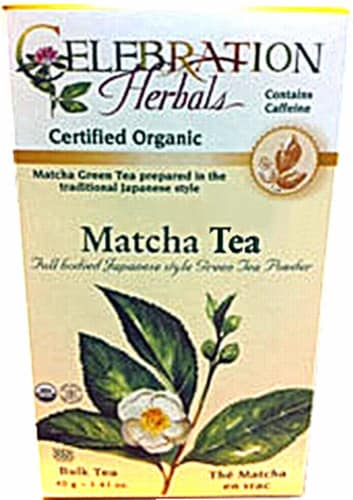 Celebration Herbals  Organic Matcha Tea Perspective: front