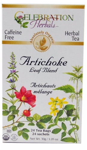 Celebration Herbals  Organic Tea Artichoke Leaf Blend Perspective: front