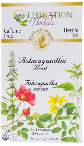 Celebration Herbals  Organic Tea Ashwagandha Root Perspective: front