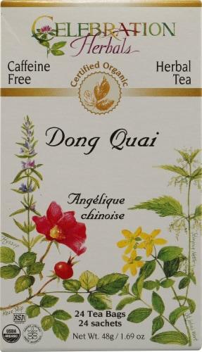 Celebration Herbals  Organic Dong Quai Tea Caffeine Free Perspective: front