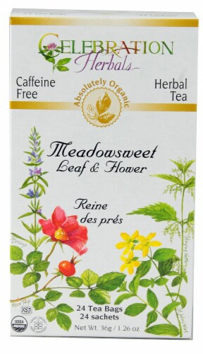 Celebration Herbals  Organic Meadowsweet Leaf & Flower Tea Perspective: front