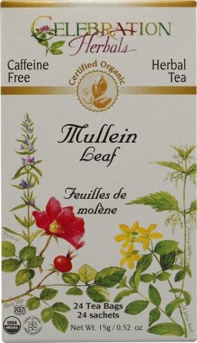Celebration Herbals  Organic Mullein Leaf Tea Caffeine Free Perspective: front
