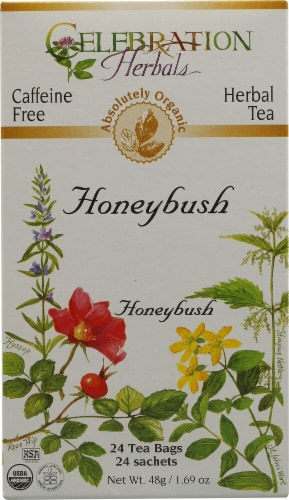 Celebration Herbals  Organic Honeybush Tea Caffeine Free Perspective: front