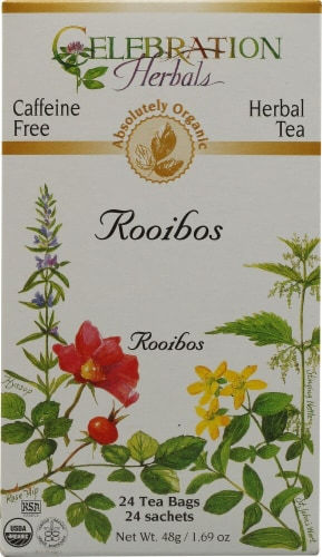 Celebration Herbals  Organic Red Rooibos Tea Caffeine Free Perspective: front
