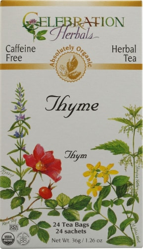 Celebration Herbals  Organic Thyme Tea Caffeine Free Perspective: front