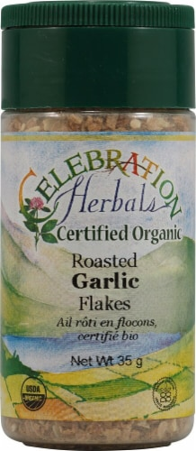 Celebration Herbals  Organic Roasted Garlic Flakes Perspective: front