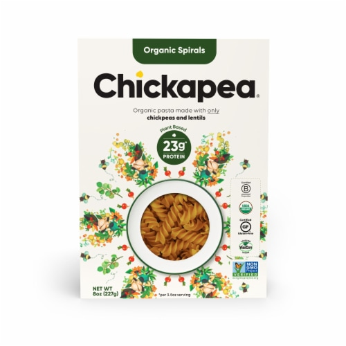 Chickapea Organic Spiral Pasta Perspective: front
