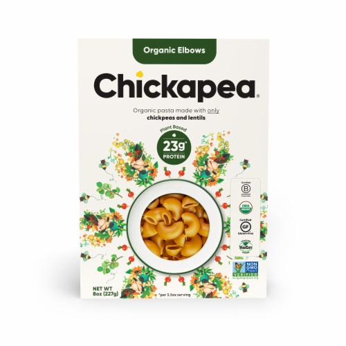 Chickapea Organic Elbows Pasta Perspective: front