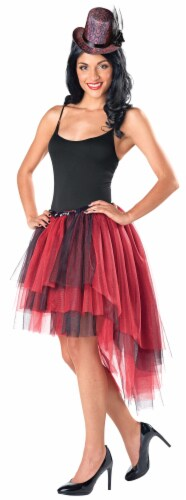 Seasons Waterfall Tutu - Red / Black Perspective: front