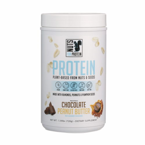 Nuts For Protein Chocolate Peanut Butter Nuts & Seeds Plant-Based Protein Perspective: front