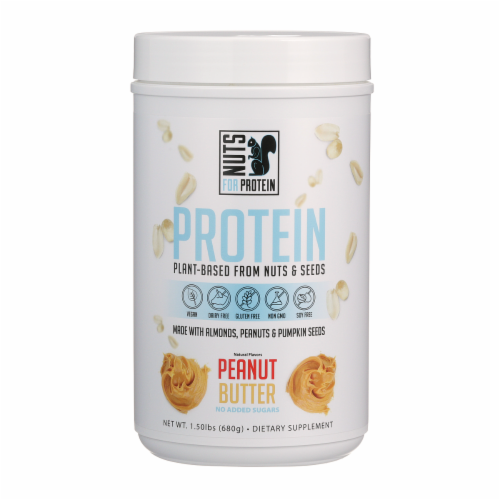 Nuts For Protein Peanut Butter Nuts & Seeds Plant-Based Protein Perspective: front