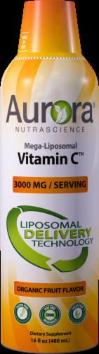 Aurora Nutrascience Organic Fruit Flavor Mega-Liposomal Vitamin C Dietary Supplement 3000mg Perspective: front