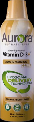 Aurora Nutrascience Organic Fruit Flavor Micro-Liposomal Vitamin D3 Dietary Supplement 3000IU Perspective: front