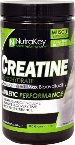 NutraKey  Creatine Monohydrate Perspective: front
