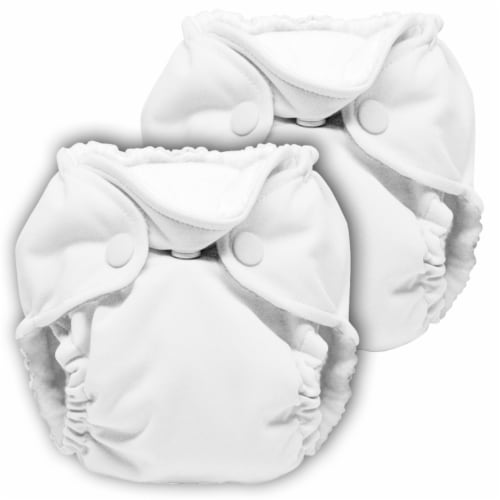 Kanga Care Lil Joey Newborn All in One AIO Cloth Diaper (2pk) Fluff 4-12lbs Perspective: front