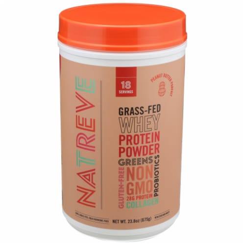 Natreve Peanut Butter Parfait Grass-Fed Whey Protein Powder Perspective: front