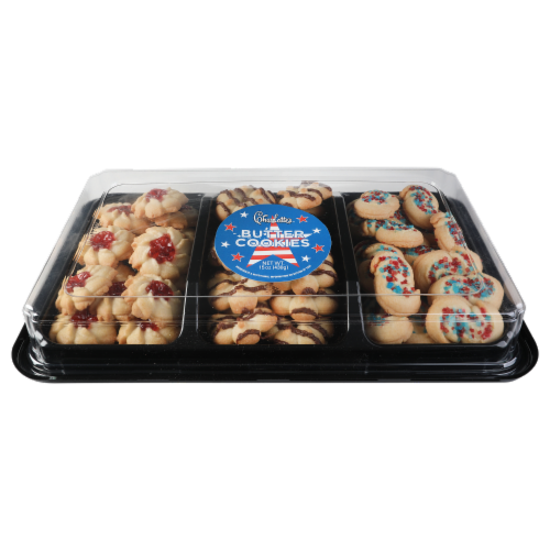 Charlotte's Patriotic Butter Cookies Perspective: front