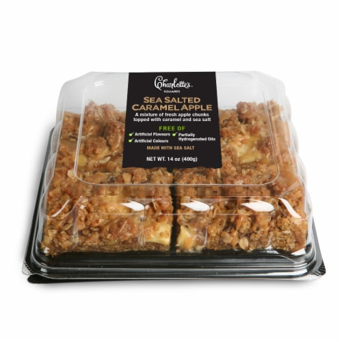 Charlotte's Sea Salted Caramel Apple Squares Perspective: front