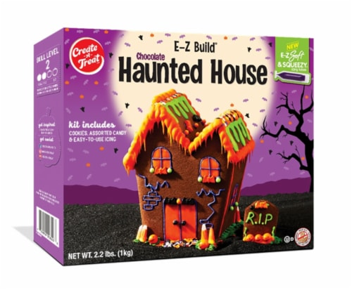 Create A Treat Haunted Chocolate Cookie House Kit Perspective: front