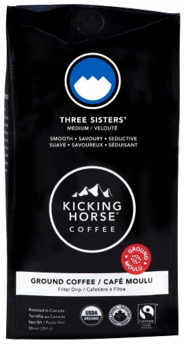 Kicking Horse Coffee Three Sisters Ground Coffee Perspective: front