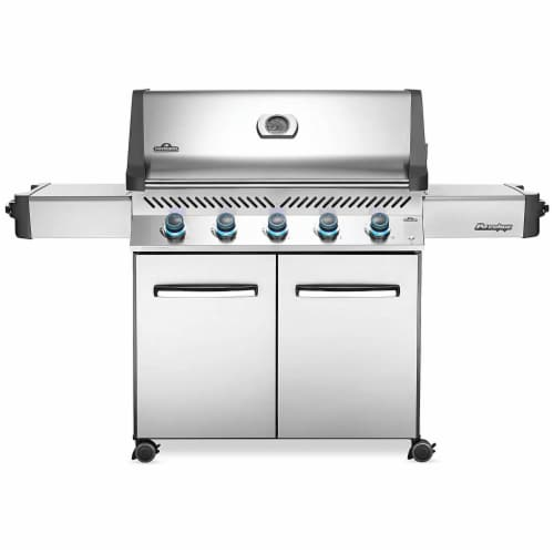 Napoleon P665NSS Prestige 665 Stainless Steel Natural Gas Grill w/ Side Shelves Perspective: front