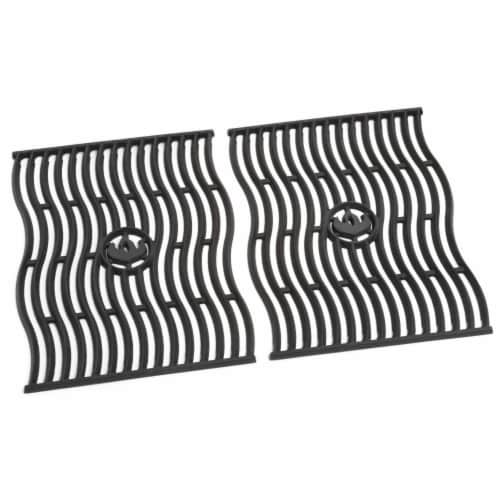 Napoleon S83006 Replacement Cast Iron Cooking Grids for Prestige 500, Black Perspective: front