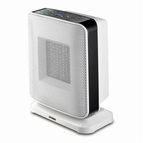 Portable Oscillation Ceramic Heater with Thermostat and LED Perspective: front