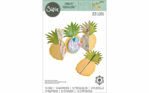 Sizzix JLong Thinlits Die Card Pinapple FoldALong Perspective: front
