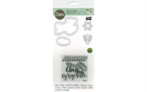 Sizzix LSerata Framelits Die/Stamp Happy Challah Perspective: front