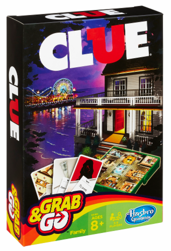 Hasbro Gaming Clue Grab & Go Board Game Perspective: front