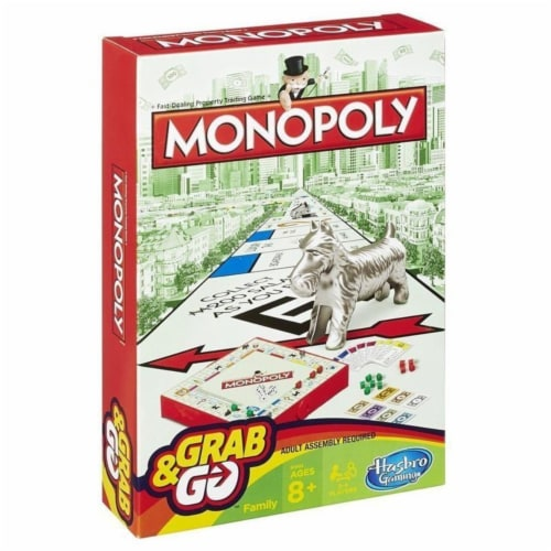 Hasbro 30375115 Monopoly Grab & Go Game Perspective: front