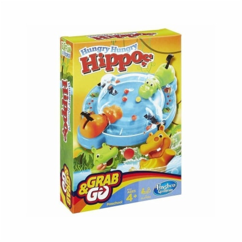 Hasbro 30375120 Hungry Hippos Grab & Go Game Perspective: front