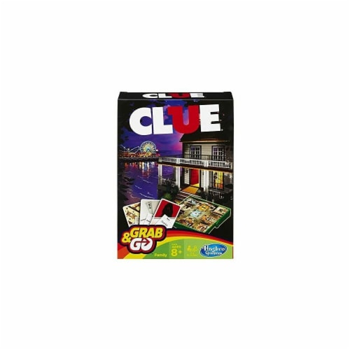 Hasbro 30375105 Clue Grab & Go Game Perspective: front
