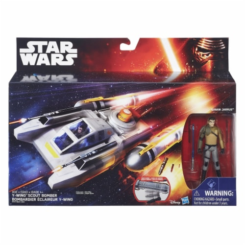 Star Wars Class I Deluxe Vehicle - Y-Wing Scout Bomber Perspective: front