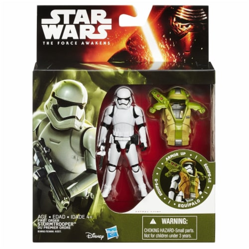 """Star Wars 3.75"""" Armor Figure - First Order Stormtrooper Perspective: front"""