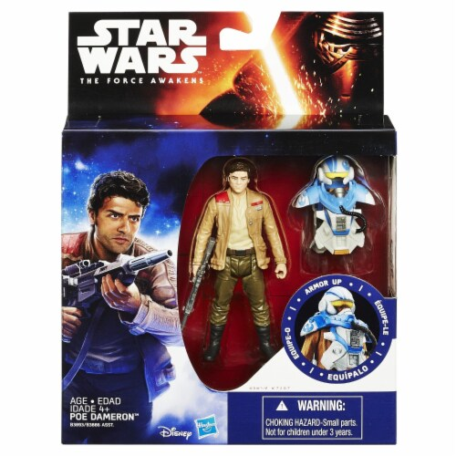 Star Wars The Force Awakens 3.75-Inch Figure Space Mission Armor Poe Dameron (Pilot) Perspective: front
