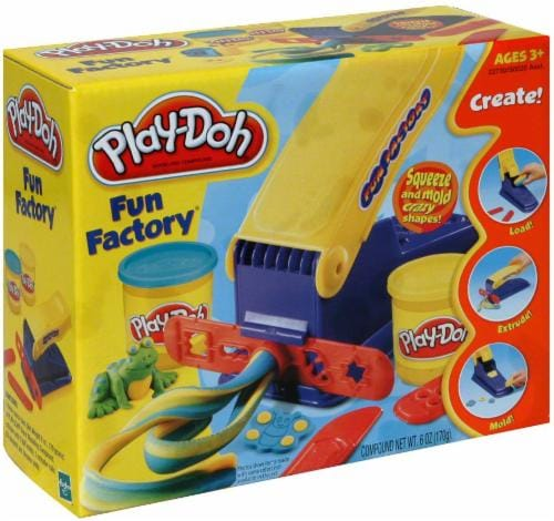 Hasbro Play-Doh Fun Factory Playset Perspective: front